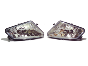 2005-2013 Polaris Hawkeye 300, Sportman 300 450 500 700 800, Trail Boss 330 OEM Left & Right Head Light Assembly Lens Housing And Bulbs