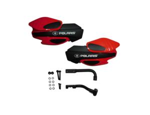 2013-2020 Polaris Sportsman XP 1000 850, Sportsman 450 570 850, Sportsman X2 550, Sportsman XP 850 OEM Red Hand Guard & Bracket Kit Assembly