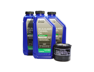 2013-2014 Polaris Brutus HD PTO OEM 15W-40 Summer Diesel Oil Change Kit